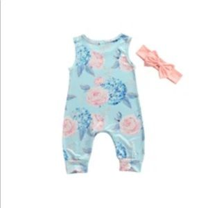 Floral romper and headband